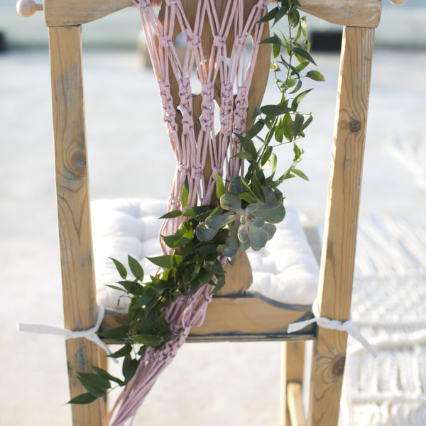 Handcrafted macrame decorative chair back